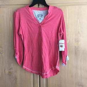 NWT Nine West Button Down Shirt Adjustable Sleeves